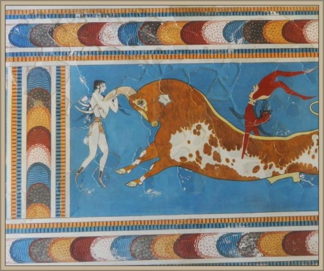 Knossos fresco bull leaping