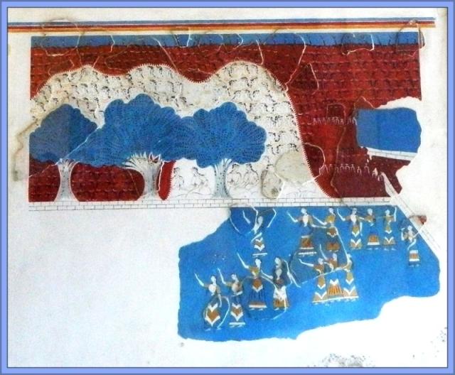 Knossos Fresco spectators Bull Leaping