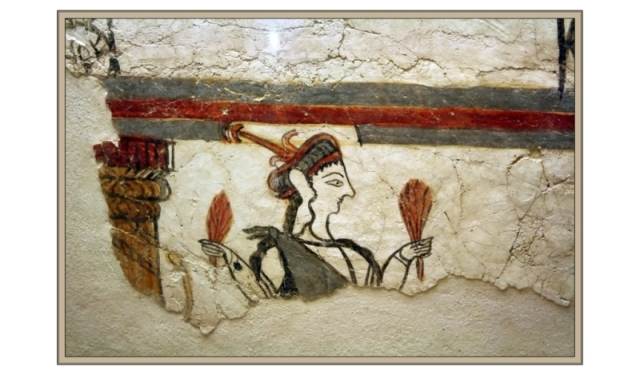 Mycenae Fresco woman with grain