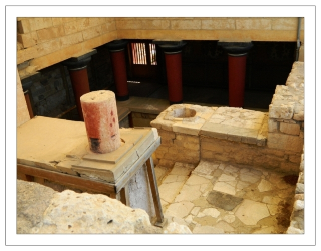 Knossos, stairwell down to the Hall of the Double Axes