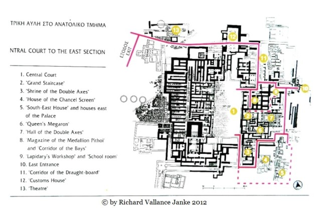 Plan of the Palace of Knossos