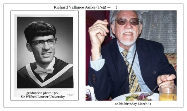 Richard Vallance Janke graduation 1968 L & birthday 2006