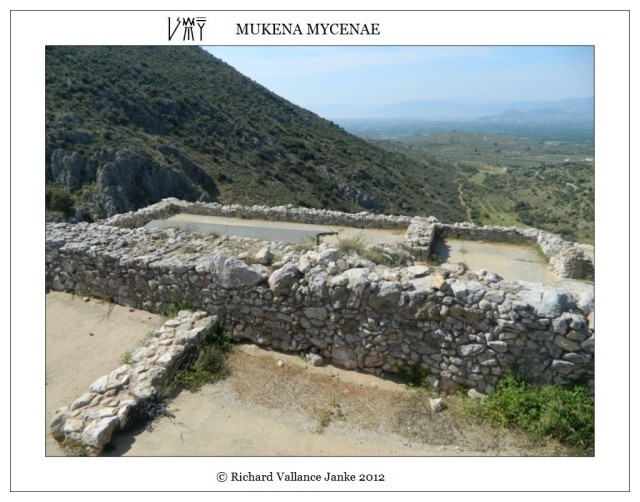 foundations upper citadel Mycenae