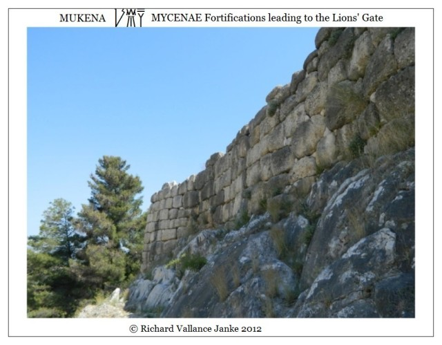Mycenae fortifications before Lions' Gate