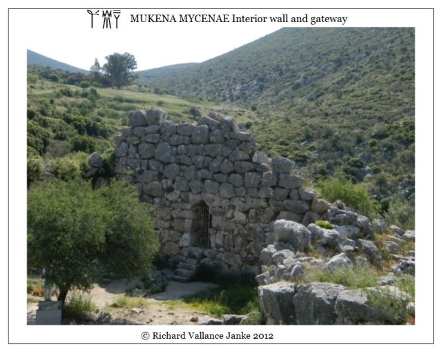 Mycenae interior wall and gate