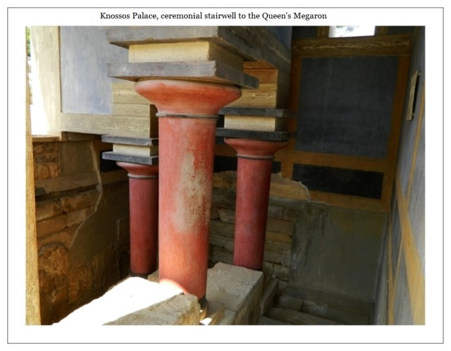 Knossos stairwell to the Queen's Megaron
