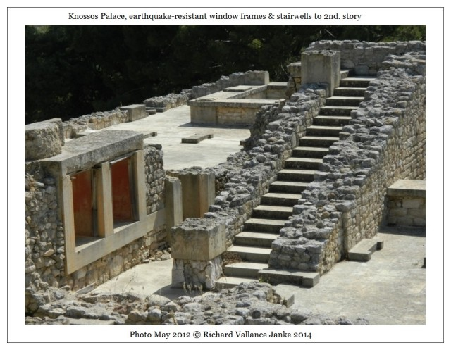 Knossos window frames & stairwell to second story