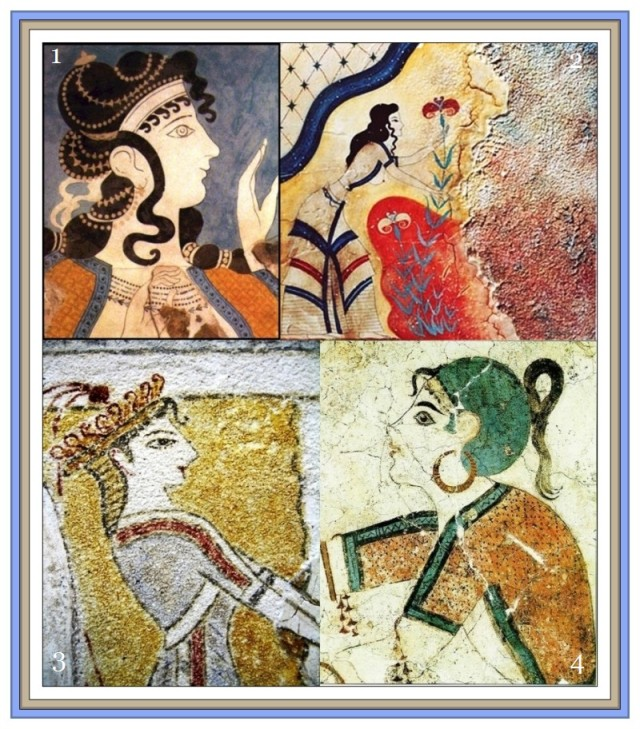 Minoan collage the Saffron Beauties