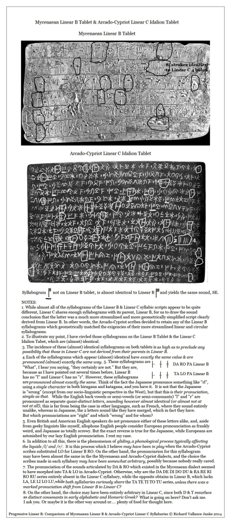 Linear B tablet top & Cypriot Linear C Idalion Tablet bottom