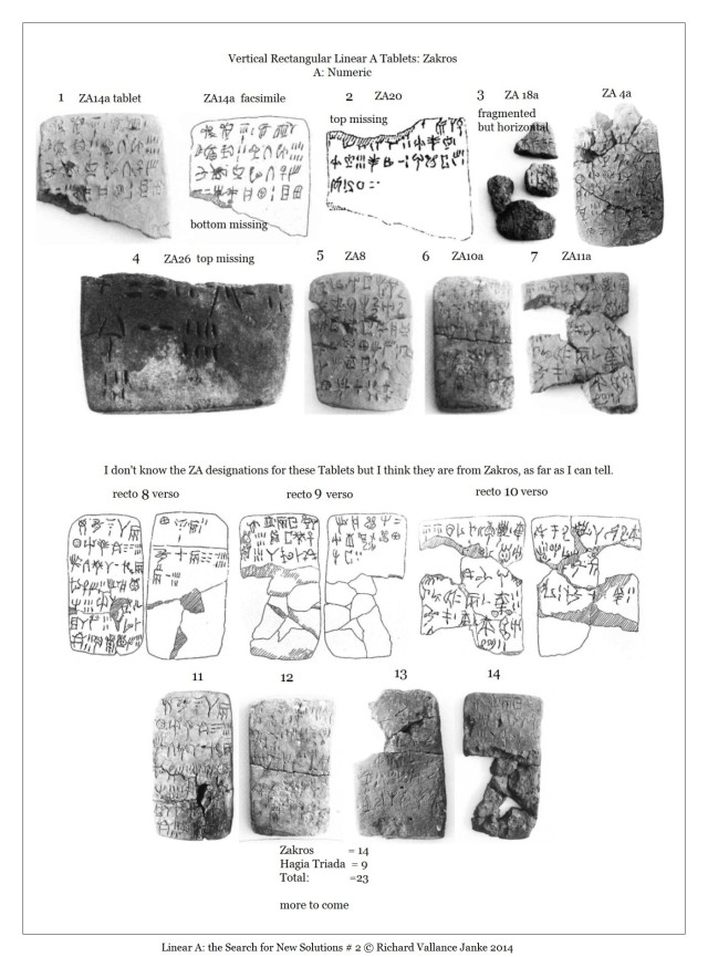Zakros Linear A Tablets