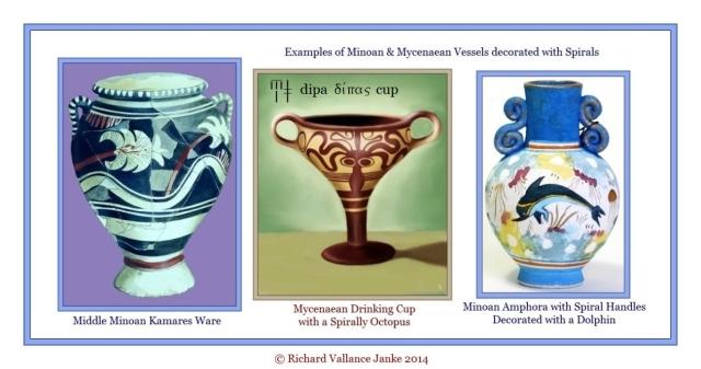 Kamares Middle Minoan Mycenaean octopus wine cup Minoan Dolphiin Oinos wine cup