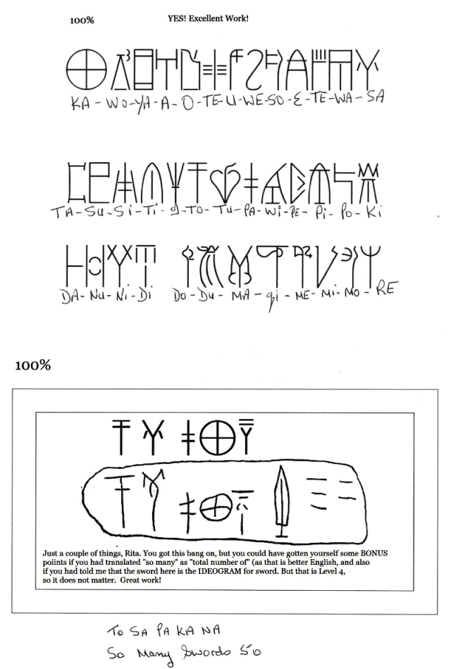 Linear B Characters and Tablet