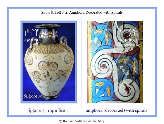 Mycenaean Linear B aporowewe amphora decorated with spirals