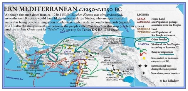 Eastern Mediterranean 1250-1150 BCE
