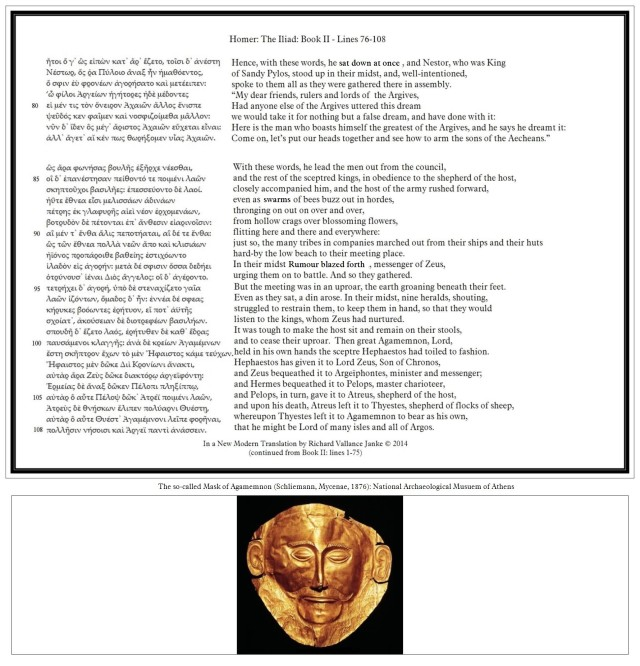 Iliad 2 76-108 in Greek