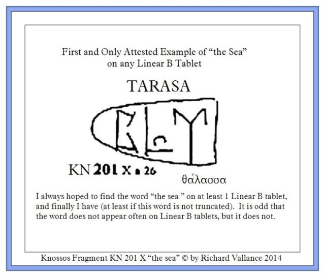 Knossos fragment KN 201 X TARASA the SEA
