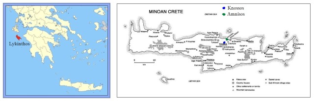Lykinthos LEFT and Minoan Crete Knossos & Amnisos RIGHT