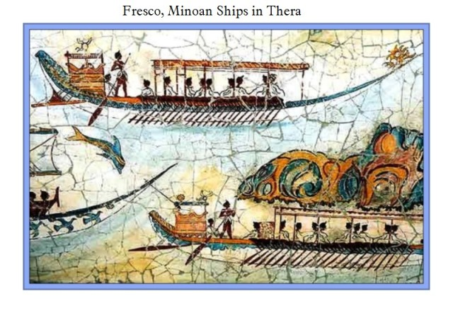 Fresco Minoan Ships in Thera