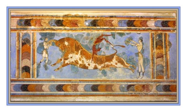 Bull fresco Knossos May 2012