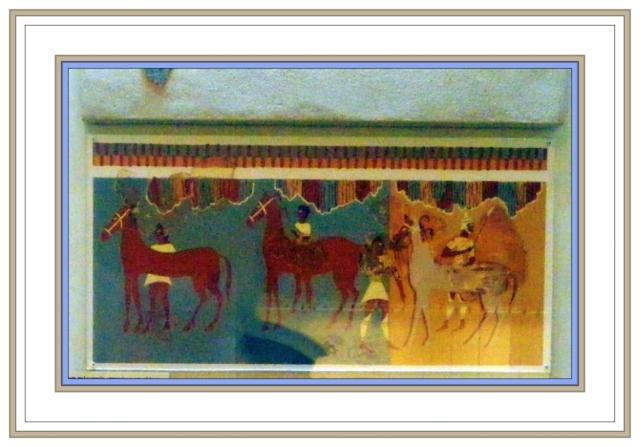 fresco horses and cavalry museum Mycenae May 3 2012