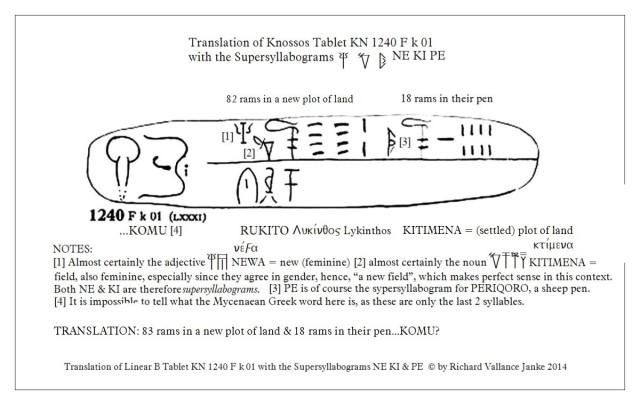 Knossos Tablet 1240 F k 01