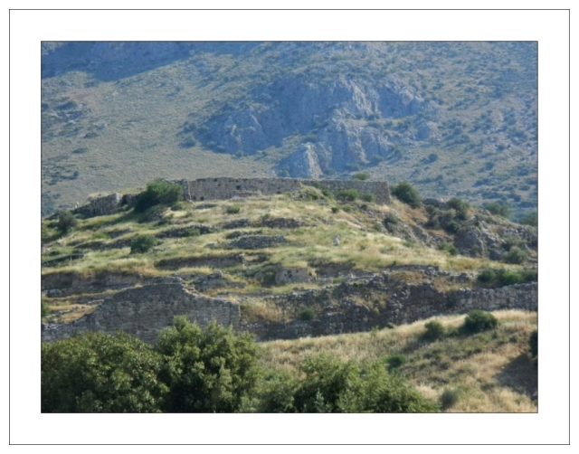 View of rhe famous acropolis of Mycenae May 2012)