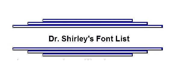Dr Shirleys Font List Greek