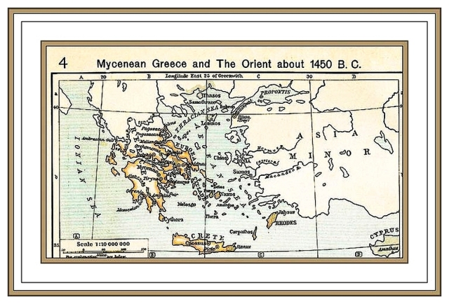 Map of Mycenaean Greece and the Orient ca 1450 BCE