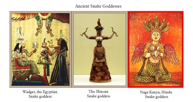 Minoan Egyptian Hindu snake goddesses
