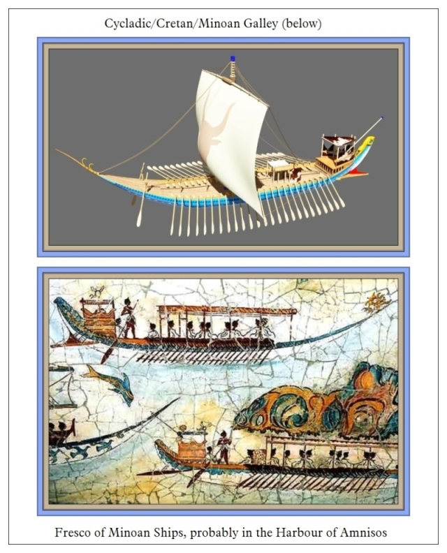 Minoan Ship and Fresco