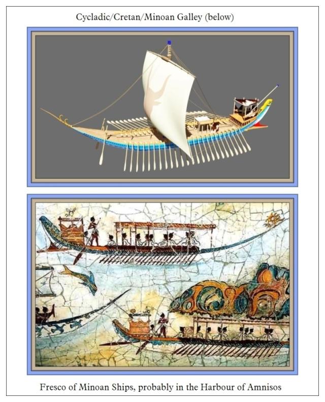 Minoan Ship and Fresco