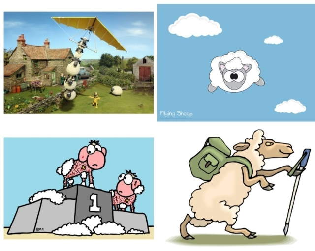 Sheep cartoons B