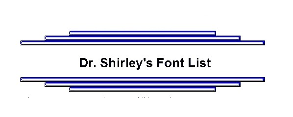 Dr Shirleys Font List Greek