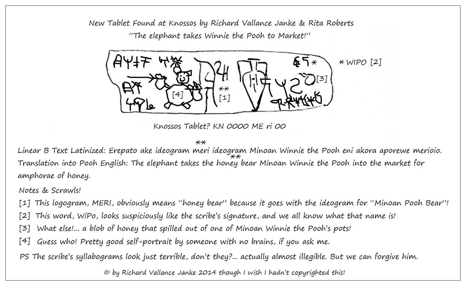 The newly unearthed minoan winnie the pooh tablet from knossos i kn 00 po meri 00 voltagebd Gallery