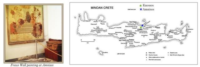 Amnisos & Knossos map