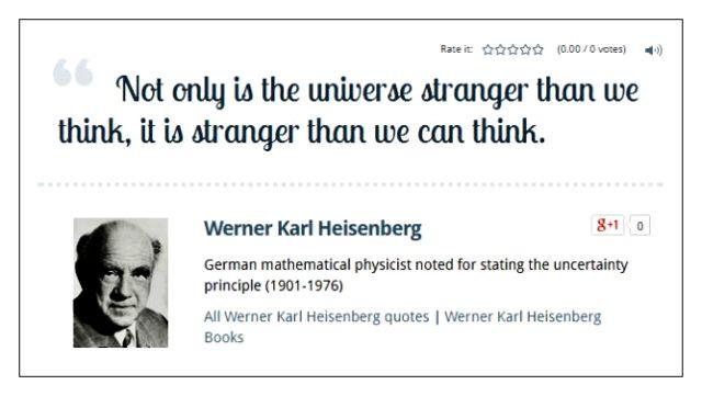 Heisenburg universe stranger