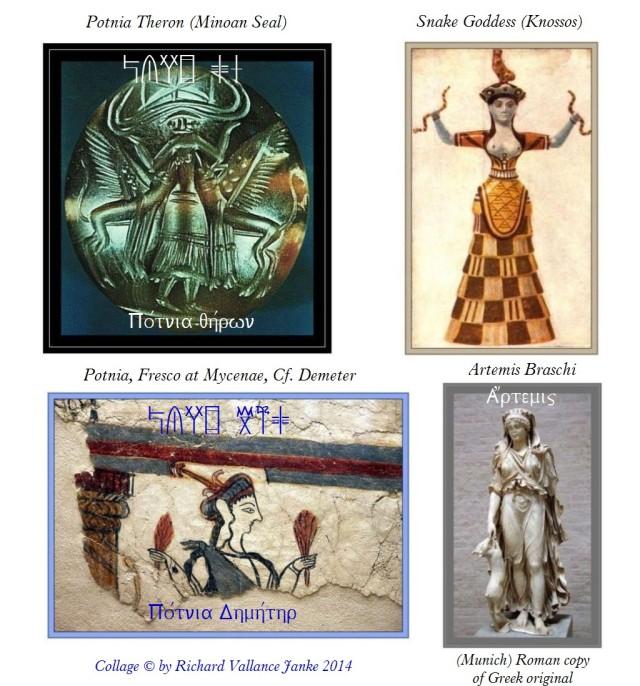 Potnia Theron Minoan Snake Goddess Artemisa