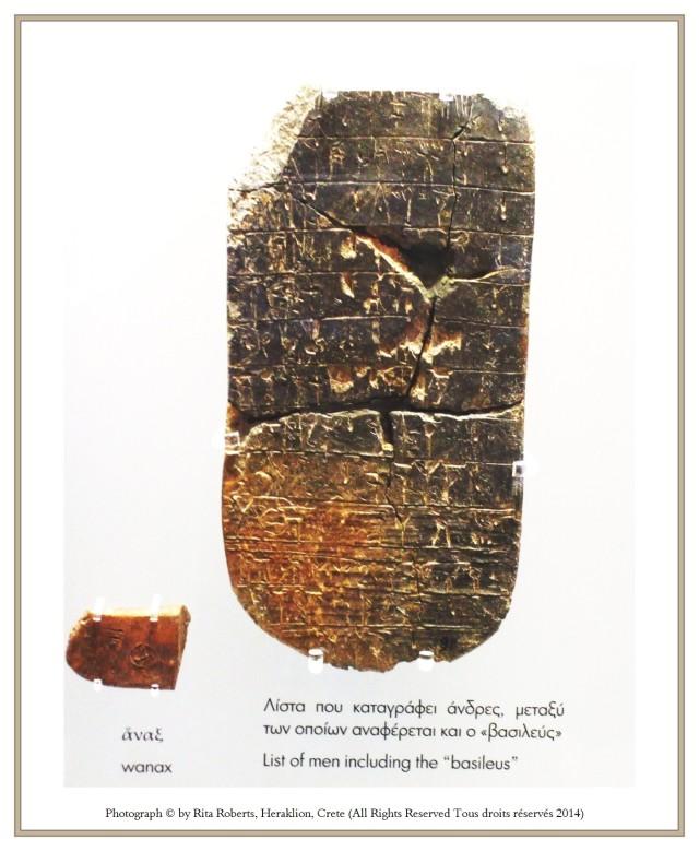 Heraklion Archaeological Museum tablet wanaka qasiereu viceroy