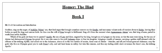 Homer Book I intro