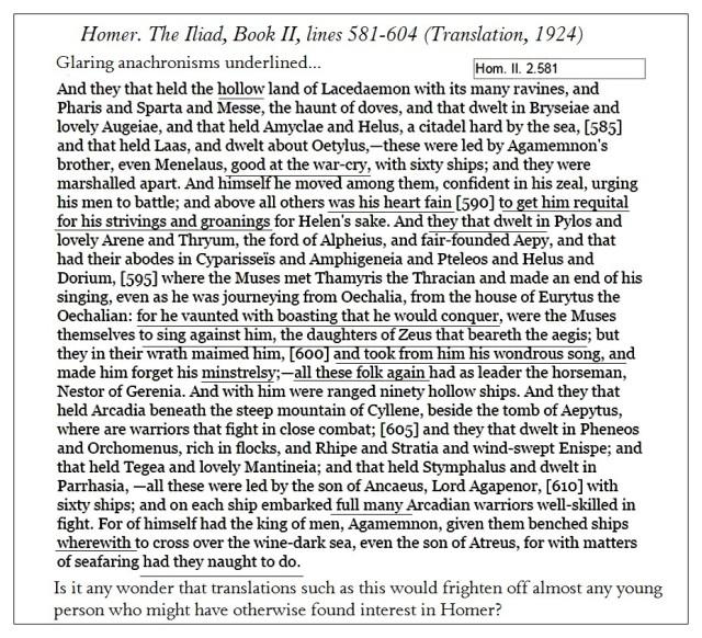 Iliad 2 581-604 Translation 1924