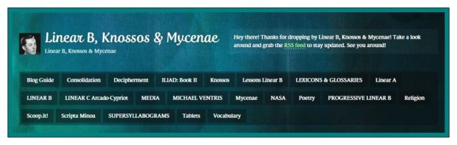 Linear B Knossos & Mycenae Categories 2014