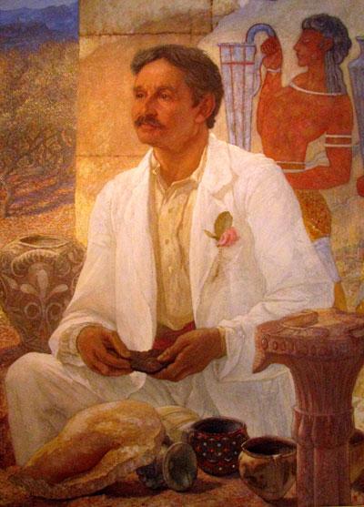 Sir Arthur Evans at Knossos in l907