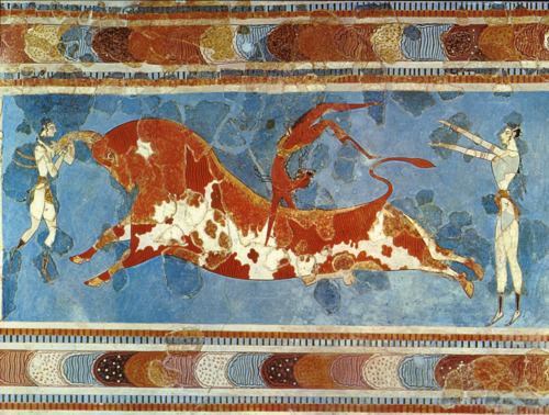 The Famous Bull Leaping Frescoe.