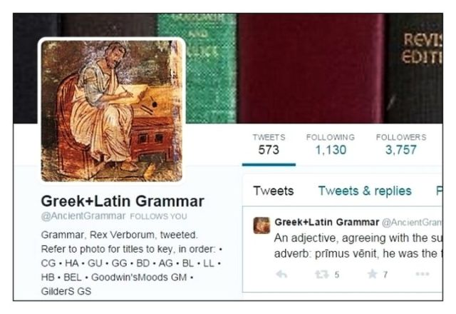 Twitter Greek+Latin Grammar