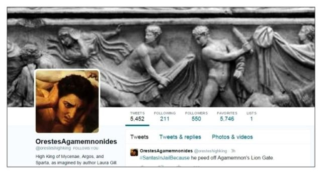 Twitter Orestes Agamemnon