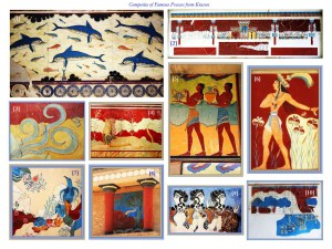 composite of frescoes at Knossos