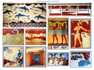 composite of frescoes at Knossos