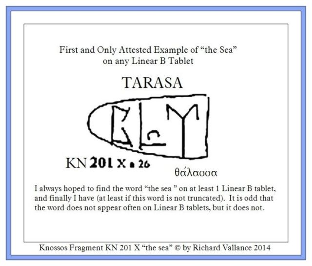 Knossos fragment KN 201 X TARASA the SEA