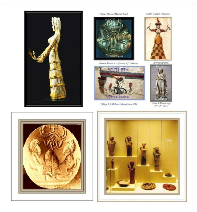 Minoan goddesses TOP Mycenaean goddesses B