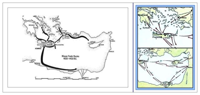 Minoan Trade Routes 1600-1400 BCE